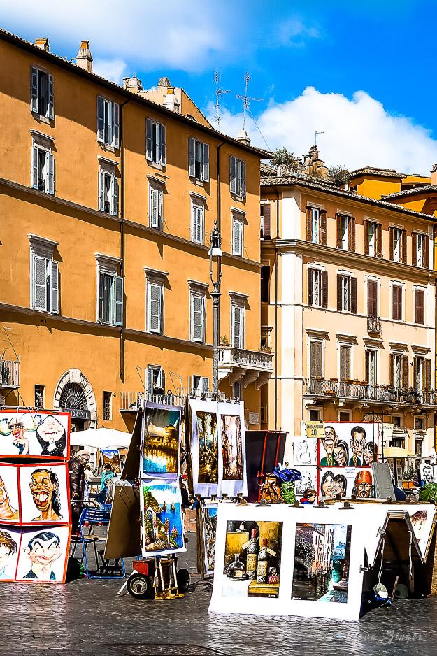 Art market in Piazza Navona, Rome