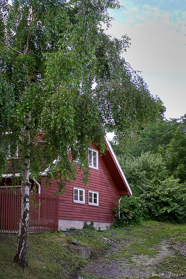 Red wooden house, Oslo