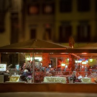 Outdoor restaurant, Florence, Italy
